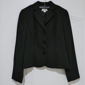 Like New LOFT Black 3-button Wool Blazer